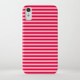 Retro, Beach, Colorful Stripes, Pink and Red iPhone Case