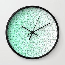 Bathroom pixels Wall Clock