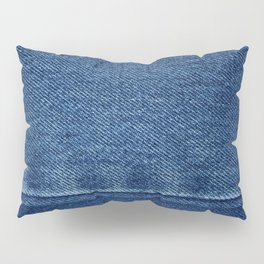 Blue Jean Texture V4 Pillow Sham