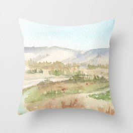 The Golan Heights - WC150615-12b Throw Pillow