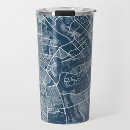 Baghdad Blueprint Street Map, Baghdad Colour Map Prints Travel Mug