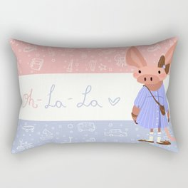 Little Missy  Aardvark in France! Rectangular Pillow