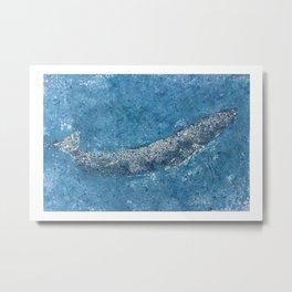Pure Ocean Art Blue Whale Metal Print