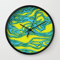 lime green Wall Clocks featuring Lime by Mario Metzler