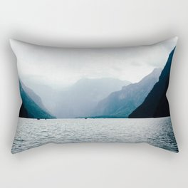Misty Lake in the Alps Rectangular Pillow