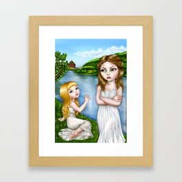 Two Sisters Framed Art Print