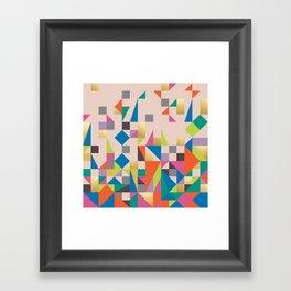 80s Quilt Framed Art Print