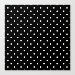 Black and White Polka Dots Canvas Print