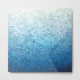 Industrial Blue Metal Print