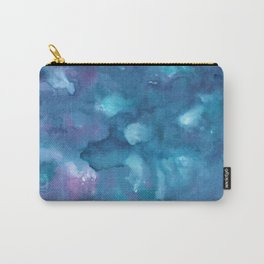 Dreamy Ocean Abstract Painting #1 #ink #decor #art #society6 Carry-All Pouch