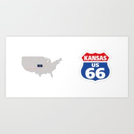 Route66 Kansas Art Print
