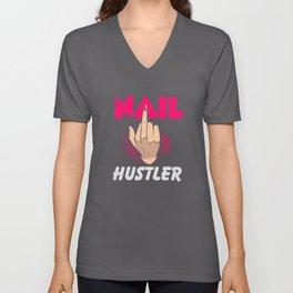 Nail Hustler - Nail Design Unisex V-Neck