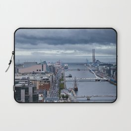 Samuel Beckett bridge aerial view Laptop Sleeve