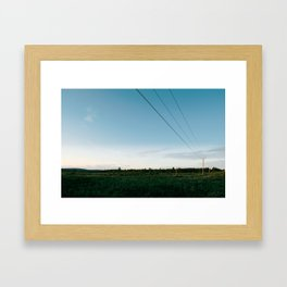 Remote lines Framed Art Print