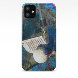 Golf art print work 9 iPhone Case