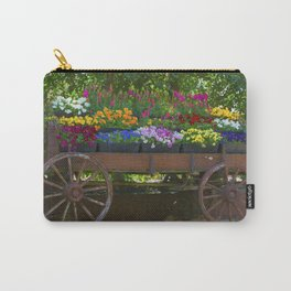 Spring Flowers in Cart Carry-All Pouch