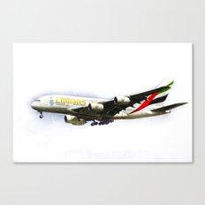 Emirates Airline A380 Art Canvas Print