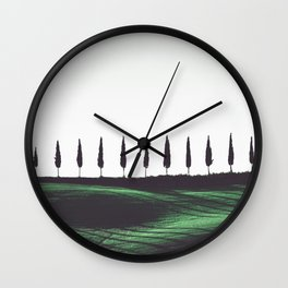 Pine Trees Wall Clock