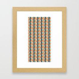Citrus and Stripes Framed Art Print