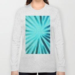 Intersecting-Aqua Long Sleeve T-shirt
