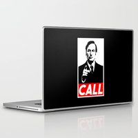 better call saul Laptop & iPad Skins featuring CALL by Marco Mottura - Mdk7