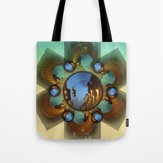 Emerald orbit Tote Bag