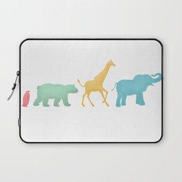 Baby Animal Silhouettes Laptop Sleeve