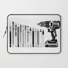 Art Power Tools Drill Bit Set Doodle Laptop Sleeve