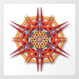 abstract mandala harsh sunlight Art Print