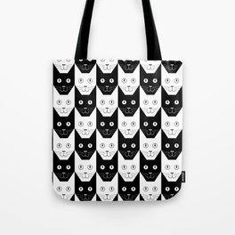 Black cat, white cat Tote Bag