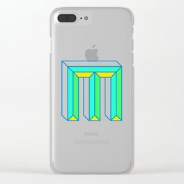 Letter M Clear iPhone Case