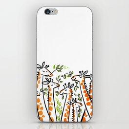Giraffe Banquet iPhone Skin