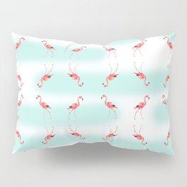 flamingo steps Pillow Sham
