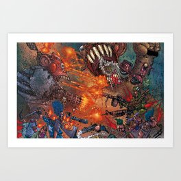 THE FUCKING FROGMAN RAGE! Art Print