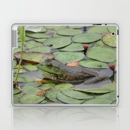 Frog on lilly pads at Nisqually Laptop & iPad Skin