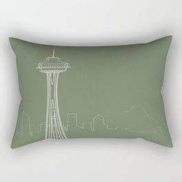 Seattle by Friztin Rectangular Pillow