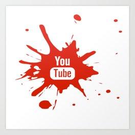 Youtube youtuber - best design or YouTube lover Art Print