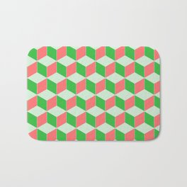 Christmas Escher Print Bath Mat