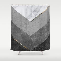 black white chevron shower curtain. Marble Gray Copper Black Gold Chevron Shower Curtain Nordic and Norse Curtains  Society6