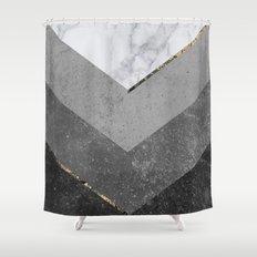 black white chevron shower curtain. Marble Gray Copper Black Gold Chevron Shower Curtain New Curtains  Society6