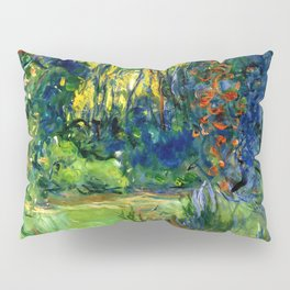 """Claude Monet """"Water lily pond at Giverny"""", 1919 Pillow Sham"""