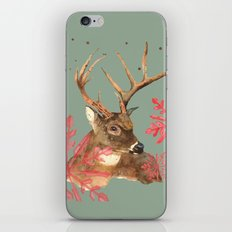 Forest Royalty, Stag, Deer, Christmas Stag, Woodland animals iPhone & iPod Skin