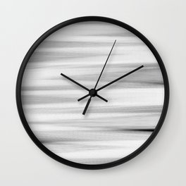 Black and White Stripes Abstract Wall Clock