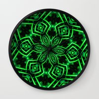 rave Wall Clocks featuring Rave Explosive by Julie Maxwell
