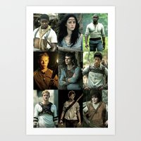 maze runner Art Prints featuring The Maze Runner Character's by TK Studios