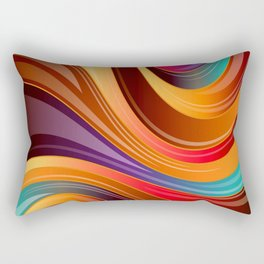 Abstract Colorful Swirls Rectangular Pillow