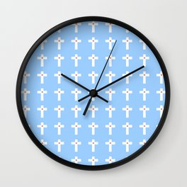 Christian Cross 51 Wall Clock