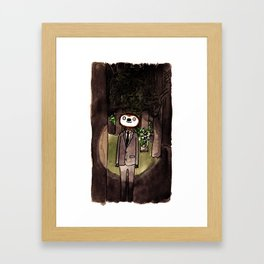 Slender Sloth Framed Art Print