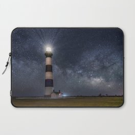 Bodie Island Lighthouse with Milky Way Core Laptop Sleeve