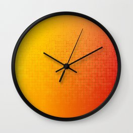 Yellorange Dots Wall Clock
